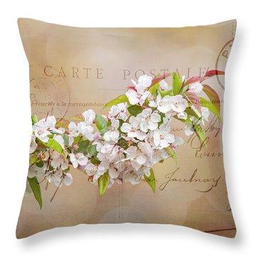 Sending Spring Throw Pillow