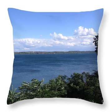 Seneca Lake Finger Lakes New York Throw Pillow