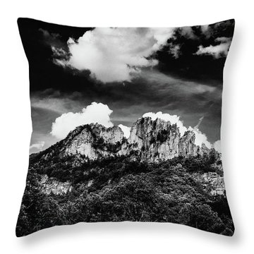 Throw Pillow featuring the photograph Seneca Rocks II by Shane Holsclaw