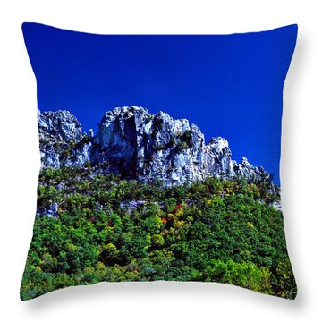 Seneca Rocks National Recreational Area Throw Pillow