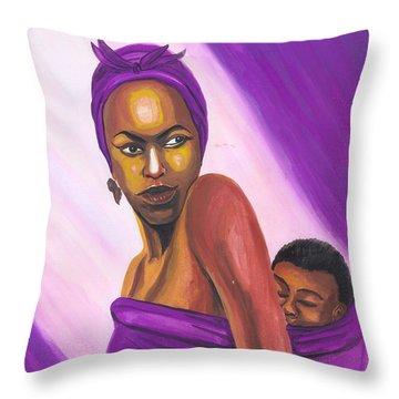 Senegalese Woman Throw Pillow