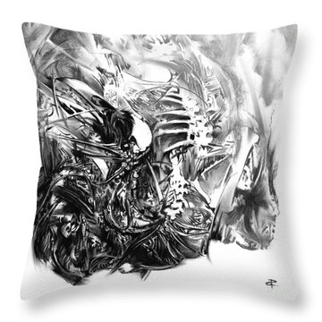 Senescence 7 Throw Pillow