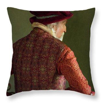 Senior Tudor Man Throw Pillow by Lee Avison