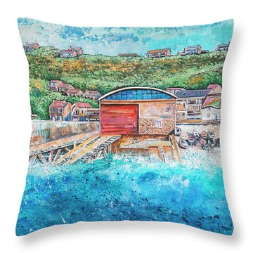 Sennen Cove Throw Pillow by Diane Griffiths