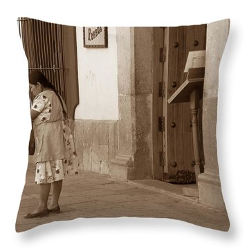 Throw Pillow featuring the photograph Senora by Mary-Lee Sanders
