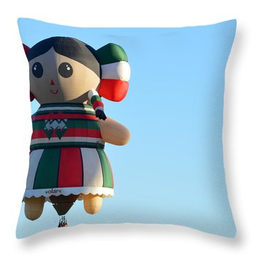 Throw Pillow featuring the photograph Senorita by AJ Schibig