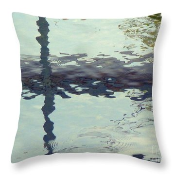 Sensing The Water Throw Pillow
