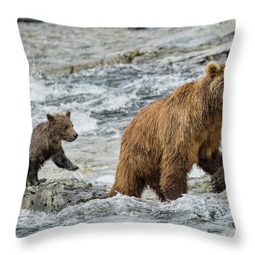 Sensing Danger Throw Pillow