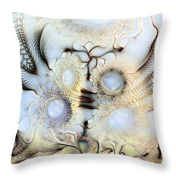 Sensorial Paroxysm Throw Pillow by Casey Kotas