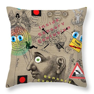 Sensory Confusions Throw Pillow
