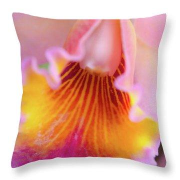 Sensual Floral Throw Pillow