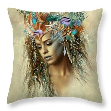 Sensual Siren Throw Pillow