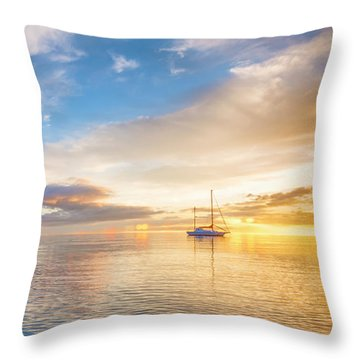 Sensual Sunrise Throw Pillow