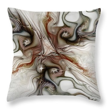 Throw Pillow featuring the digital art Sensuality by Karin Kuhlmann