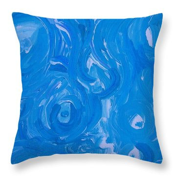 Sensuous Blue Throw Pillow by Judith Redman