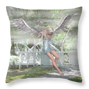 Sent From Heaven Throw Pillow by Rosalie Scanlon