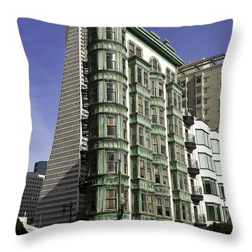 Sentinel Building San Francisco Throw Pillow by Paul Plaine