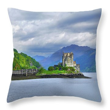 Sentinel Of The Loch Throw Pillow