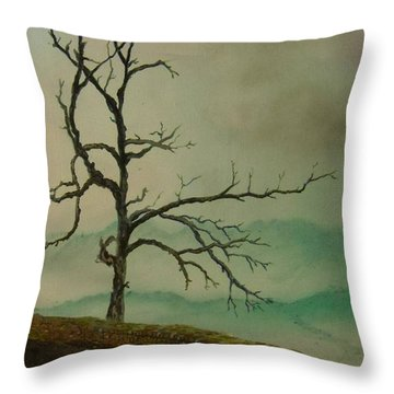 Sentinel Of The Shenandoah  Throw Pillow