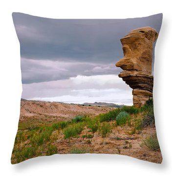 Sentinel Rock Throw Pillow