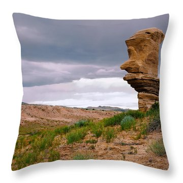 Sentinel Rock Throw Pillow