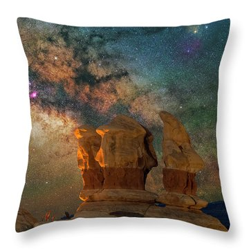Sentinels Of The Night Throw Pillow