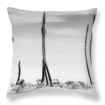 Sentinels Of The Salton Sea Throw Pillow