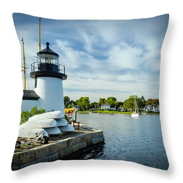 Sentinels Of The Sea Lighthouse Throw Pillow