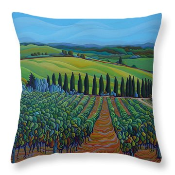 Sentrees Of The Grapes Throw Pillow