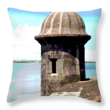 Sentry Box In El Morro Throw Pillow