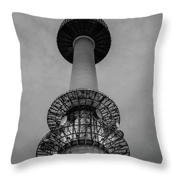 Seoul N Tower Throw Pillow