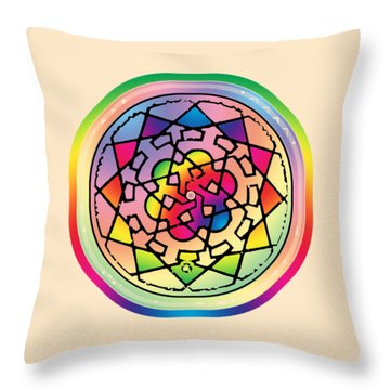Sephardic Medieval Mandala Throw Pillow