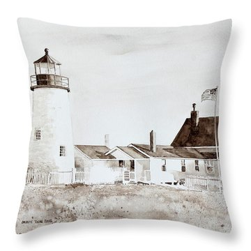 Sepia Afternoon Throw Pillow by Monte Toon