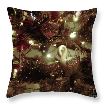 Sepia Christmas Tree Throw Pillow