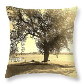 Sepia Colors In A Tree Throw Pillow