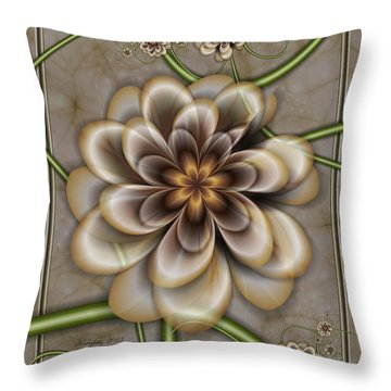 Sepia In Nature Throw Pillow