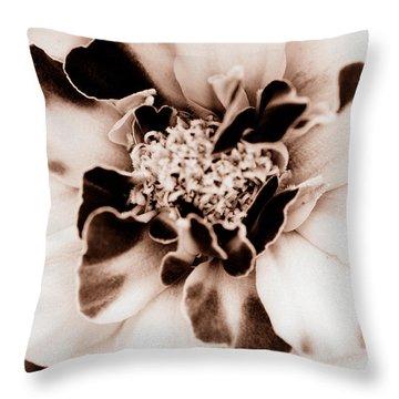 Sepia Marigold Throw Pillow