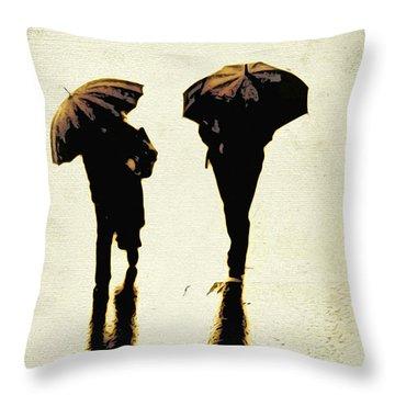 Sepia Rain Throw Pillow