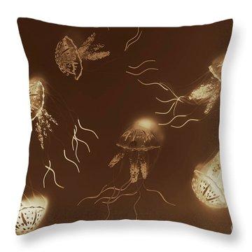 Sepia Seas Throw Pillow