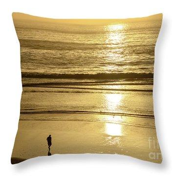 Throw Pillow featuring the photograph Sepia Sunset by Susan Wiedmann