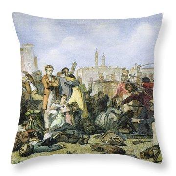 Sepoy Mutiny, 1857 Throw Pillow by Granger