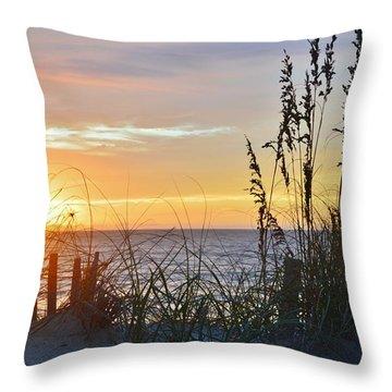 September 27th Obx Sunrise Throw Pillow
