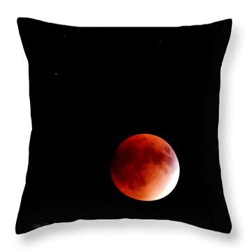 September Bloodmoon 2015 Throw Pillow