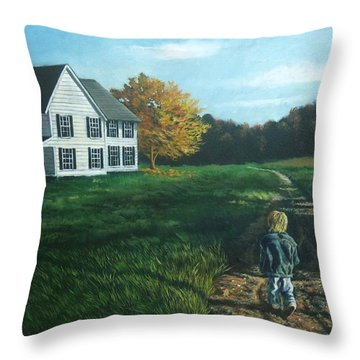 September Breeze Number 4 Throw Pillow
