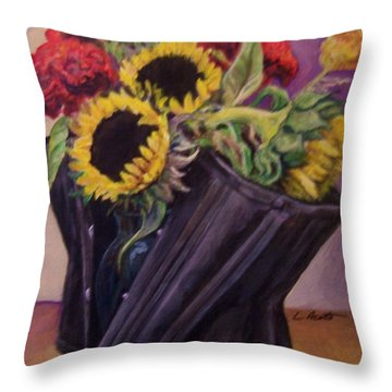 Throw Pillow featuring the painting September Cincher by Laura Aceto