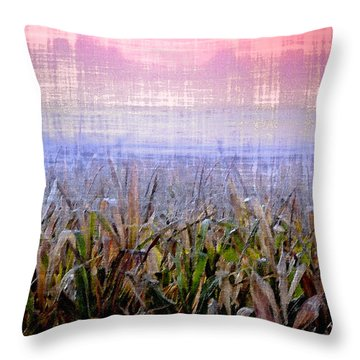 September Cornfield Throw Pillow by Bill Cannon