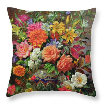 September Flowers   Symbols Of Hope And Joy Throw Pillow