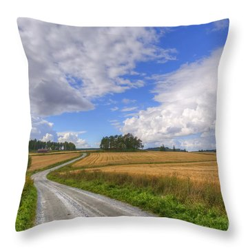 September In The Countryside Throw Pillow