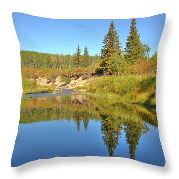 Throw Pillow featuring the photograph September by Jim Sauchyn