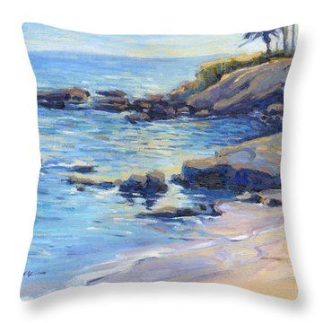 September Light / Laguna Beach Throw Pillow